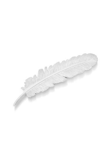 The Mia Dekor  Kuş Tüyü Beyaz - 22 Cm Beyaz